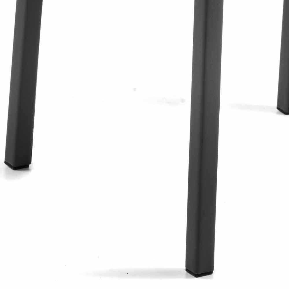 Moderne design design lænestol i økologisk læder Bessie XL, lavet i Italien