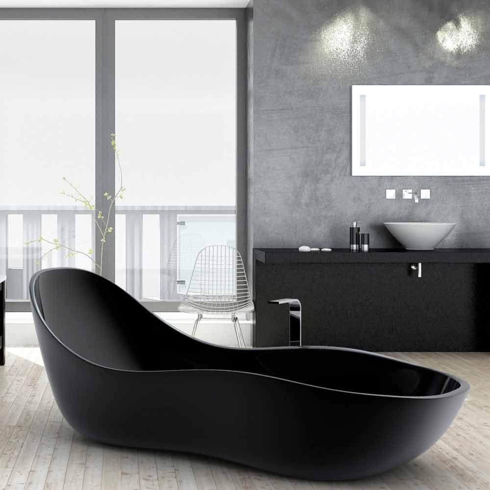 badekar design Badekar fritstående lakeret, moderne design, Wave badekar design