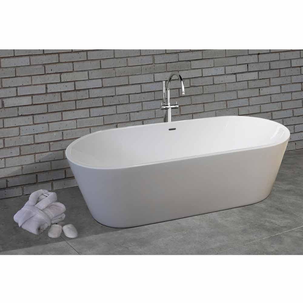 moderne fritstående badekar i hvid akryl 45x45mm Nicole45 Lille ...