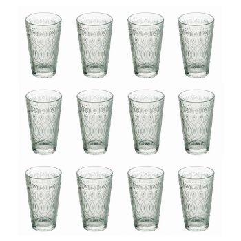 12 Dekoreret gennemsigtigt glasglas til drikkevarer - Maroccobic