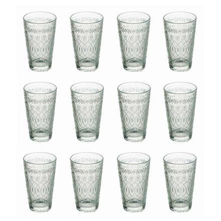 12 drikkevareglas i dekoreret gennemsigtigt glas til drikkevarer - Marokkobisk