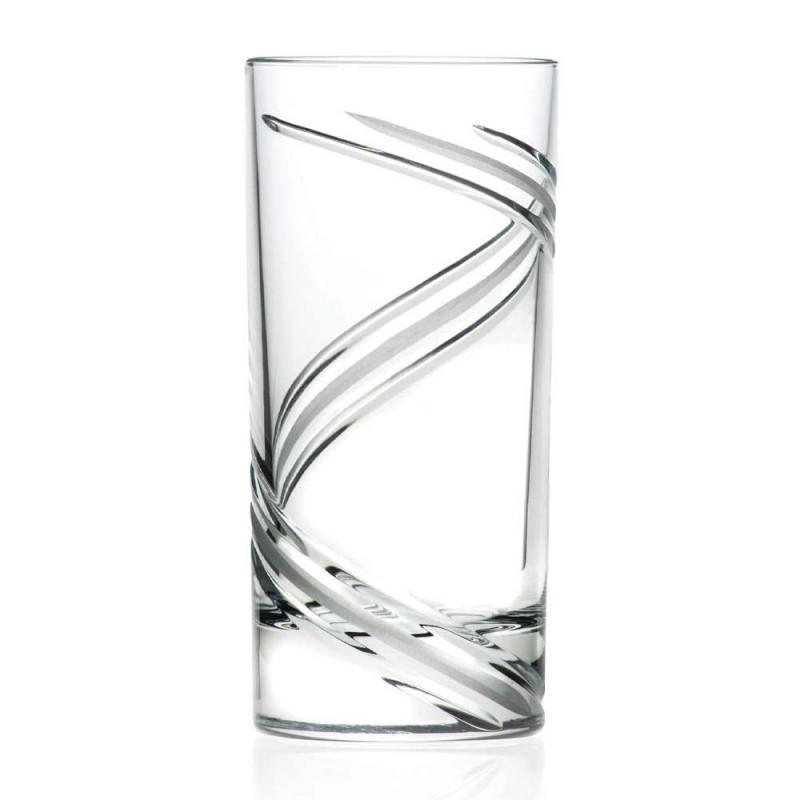 12 høje tumbler cocktailglas i italiensk økologisk krystal - cyklon