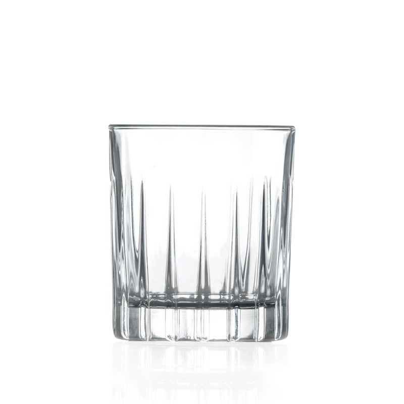 12 likørbriller i øko-krystal med lineære designdekorationer - Senzatempo