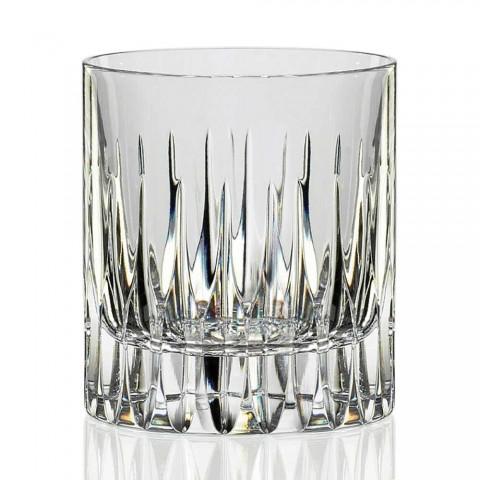 12 lave whiskyglas eller tumblervand i økologisk krystal - Voglia