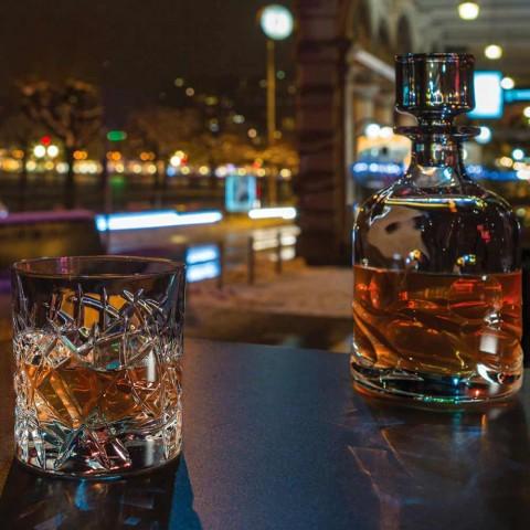 12 Dof Vintage briller til design af vand eller whisky i krystal - Titanium