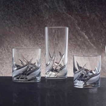 12 dobbelt gammeldags tumbler lavkrystal whiskyglas - advent