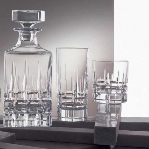12 dobbelt gammeldags tumbler Basso whiskyglas i krystal - Fiucco