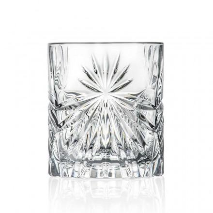 12 dobbelt gammeldags tumbler briller i Eco Crystal Design - Daniele