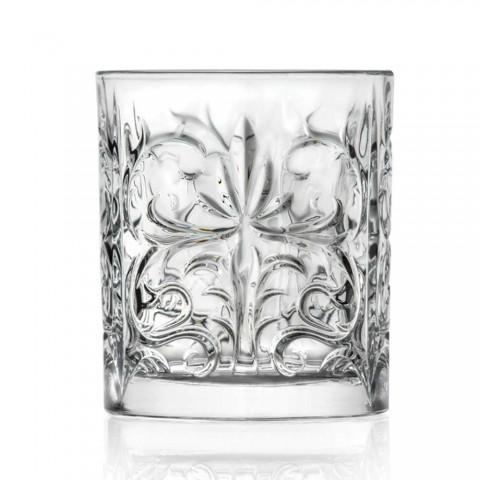 12 dobbelt gammeldags tumbler briller i luksus øko-krystal - Destino