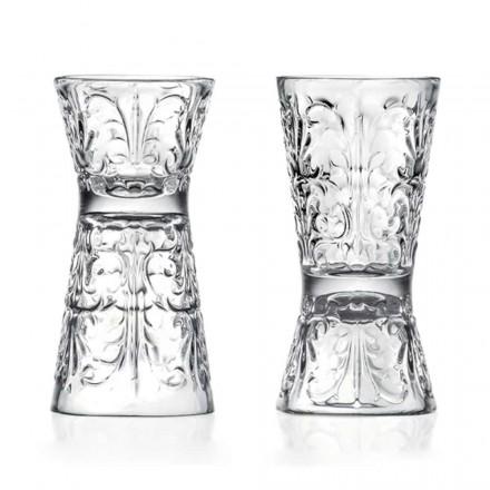 12 luksusindrettede jiggerbriller i økologisk krystal - skæbne
