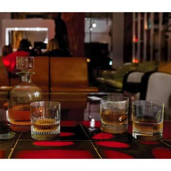 12 briller til vand eller whisky Vintage Design i dekoreret krystal - taktil