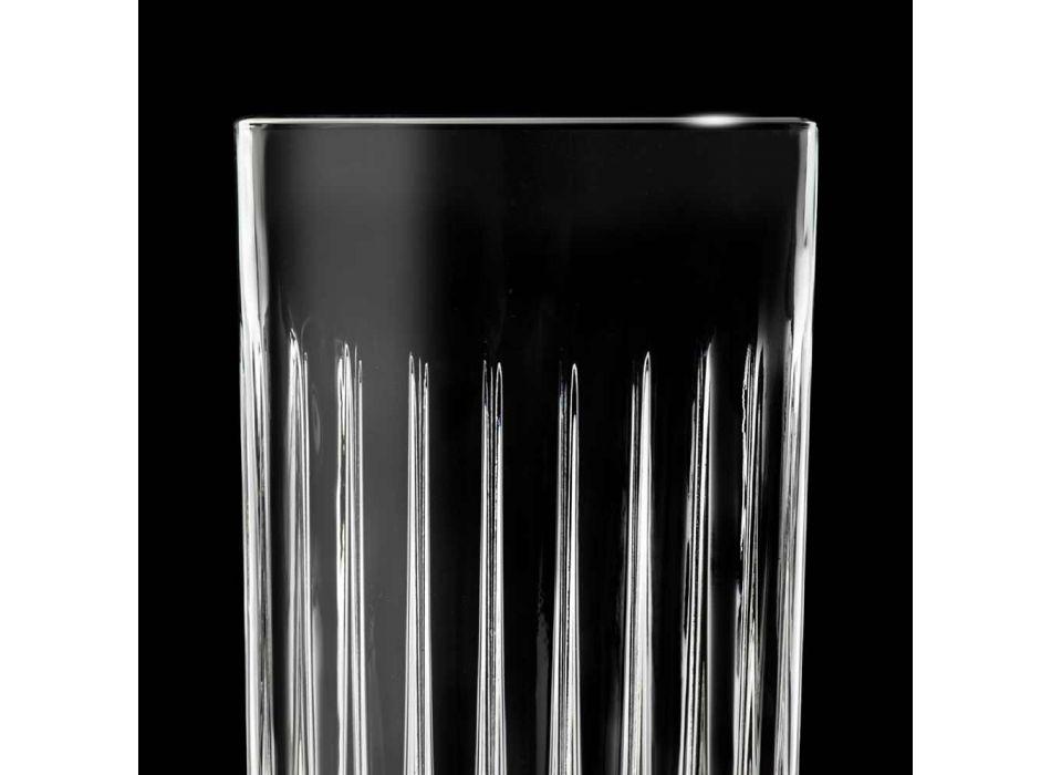 12 Tumbler Tall Highball-briller i dekoreret øko-krystal - Senzatempo