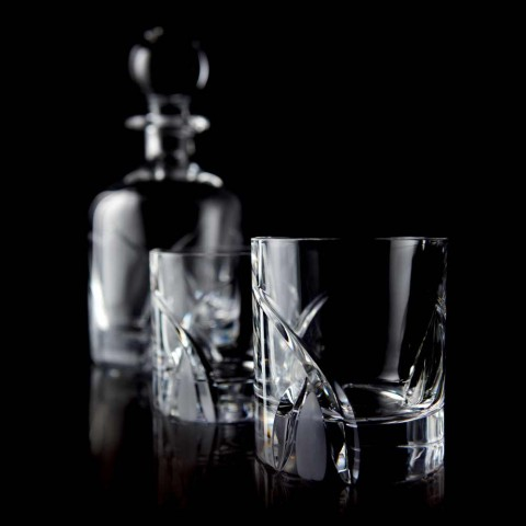 12 Low Tumbler Glasses i Eco Crystal Luxury Design - Montecristo