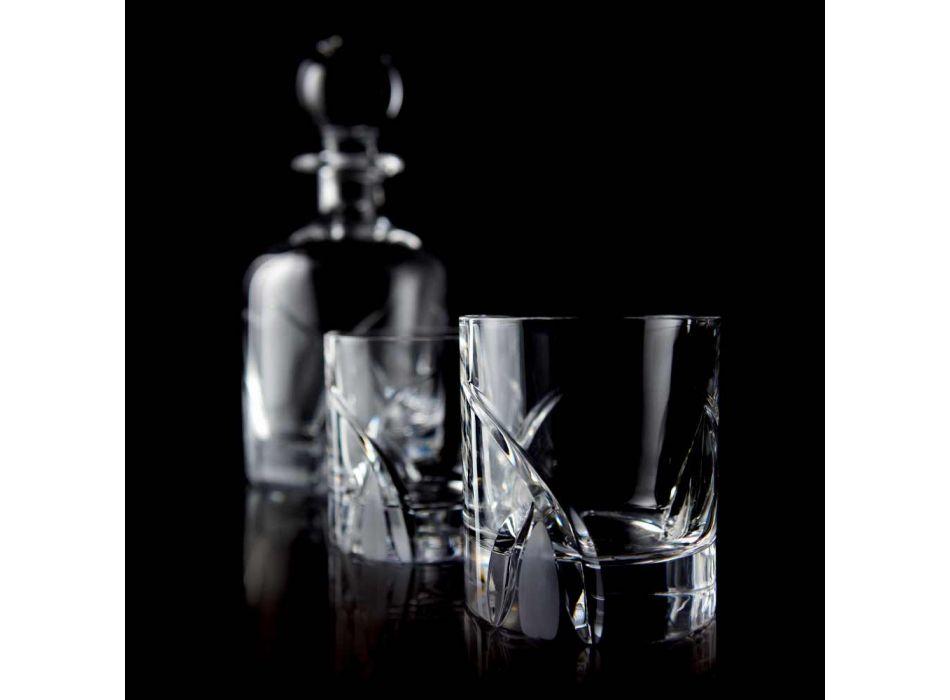 12 Low Tumbler Glasses i Eco Crystal Luxury Design - Montecristo