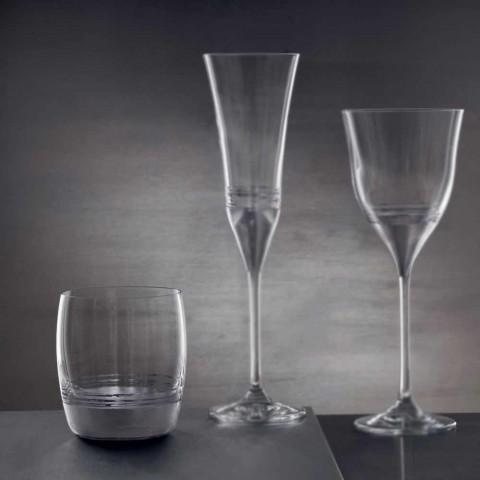 12 Low Tumbler-briller til vand med guld-, platin- eller bronzeblad - Soffio