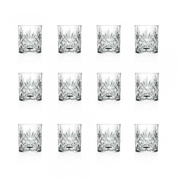12 Vintage Design Tumbler Glasses i Eco Superior Sonorous Glass - Cantabile