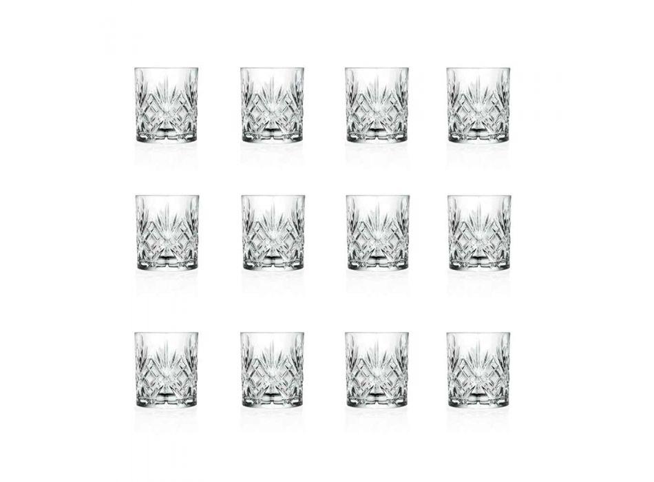 12 Vintage Design Tumbler Glasses i Eco Superior Sonorous Glass - Cantabile