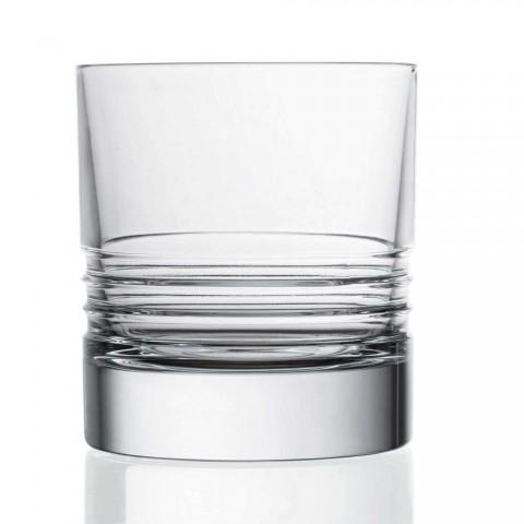 12 Tumbler dobbelt gammeldags krystal whiskyglas - arytmi