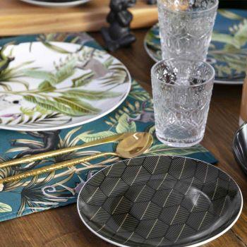 12 glas til vand i dekoreret gennemsigtigt glas - marokobisk