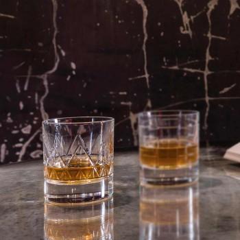 12 glas whisky eller vand luksus moderne design i krystal - arytmi