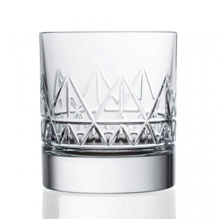 12 Crystal Luxury Vintage Design Whisky eller vandbriller - arytmi