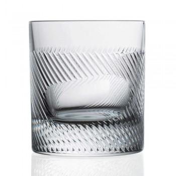 12 whisky- eller vandbriller i øko-krystal-dekoreret vintage-design - taktil