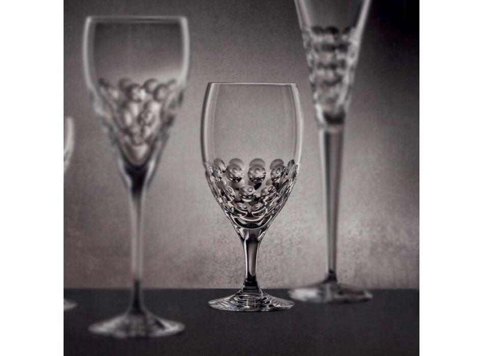 12 ølglas i økologisk krystaldekoreret luksusdesign - Titanioball