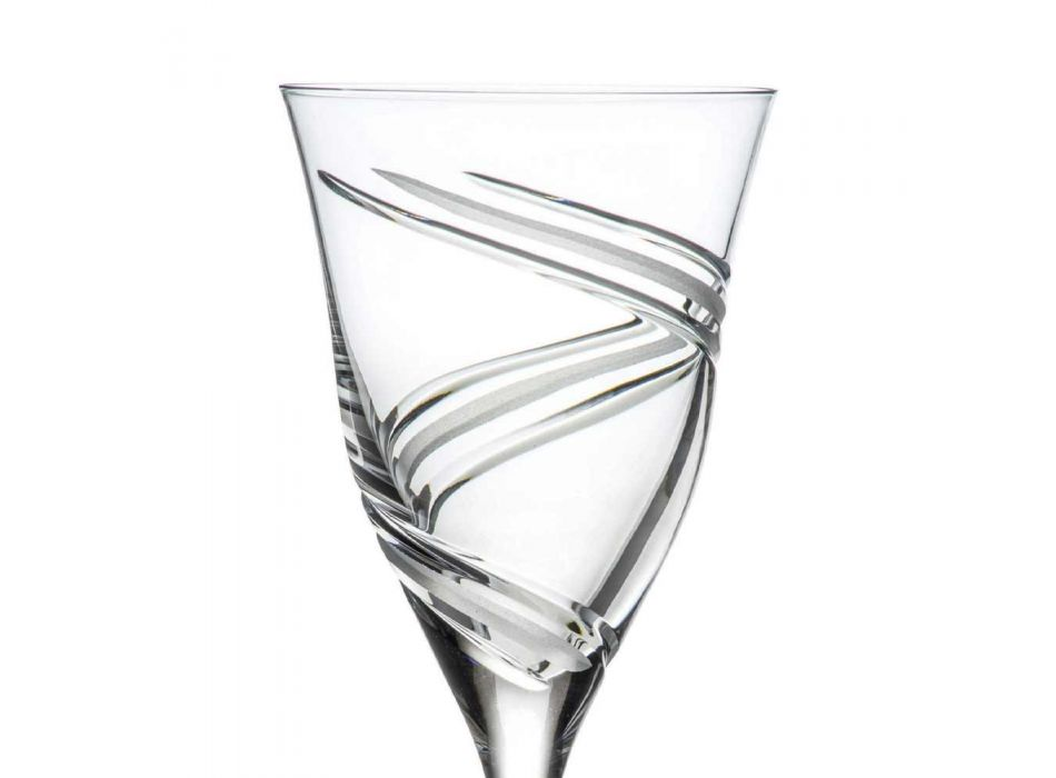 12 røde vinglas i økologisk krystalblyfri luksus - cyklon