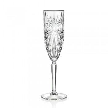 12 fløjte glas til Champagne eller Prosecco i Eco - Daniele Crystal