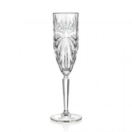 12 Fløjtebriller Glas til Champagne eller Prosecco i Eco Crystal - Daniele