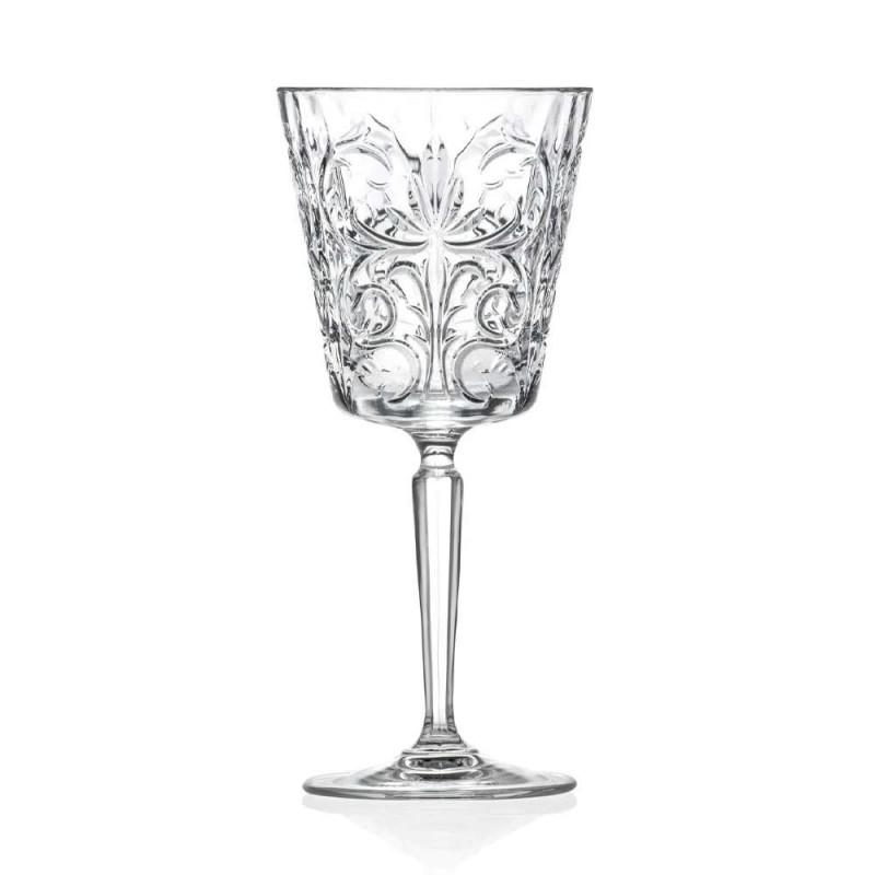 12 briller til vand, drikkevarer eller cocktaildesign i dekoreret øko-krystal - Destino