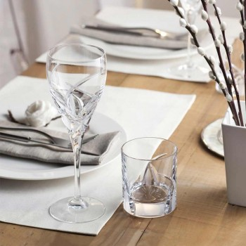 12 glas til hvidvin i økologisk krystal luksus design - Montecristo