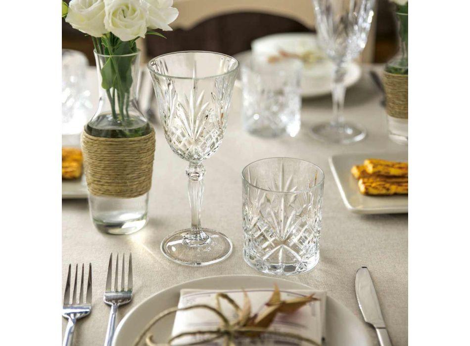 12 glas vin, vand, cocktail i økologisk krystal vintage stil - Cantabile