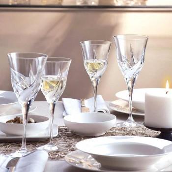 12 luksusdesign hvide vinglas i hånddekoreret øko-krystal - advent