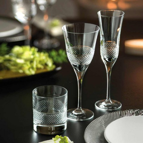 12 hvide vinglas i økologisk krystaldesign - Milito