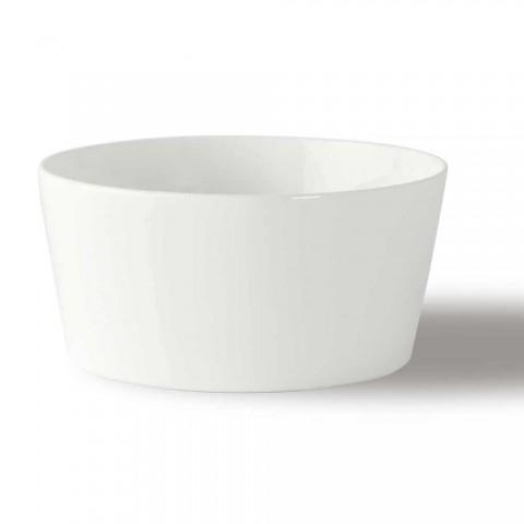 12 Modern design hvid porcelænsis eller frugtkopper - Egle