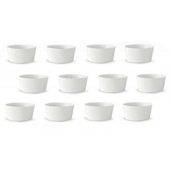 12 Hvid porcelænis eller frugtekopper i moderne design - Egle