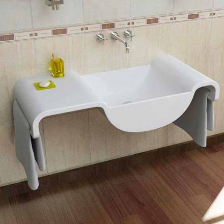 Moderne design hvid håndvask Bølge lavet i Italien