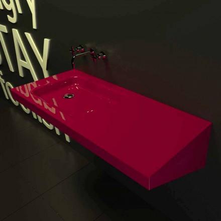 Moderne design væghængt håndvask Saddled lavet i Italien