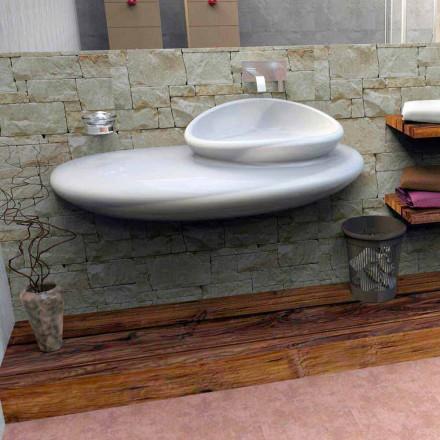 Ophængt håndvask med moderne design Sten lavet i Italien