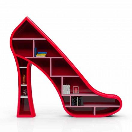 Moderne design bogreol i Solid Surface Lady lavet i Italien