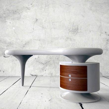 Moderne kontorbord i hvid, rød eller sort bønne