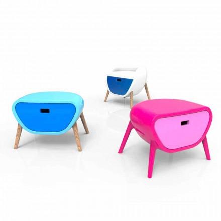 Moderne Sengebord Design Lille Gauche Lavet i Italien