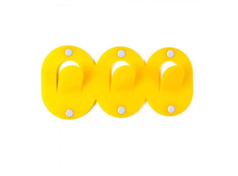 2 tredobbelt vægbøjle i farvet plexiglas klipdesign - Freddie