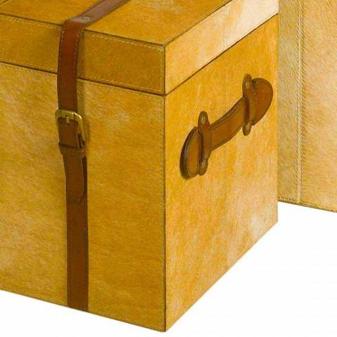 2 kufferter moderne design i lys brun hest DEII