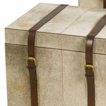 2 design i grå pony Ritini kufferter, store og små