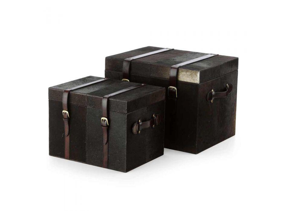 2 design kufferter mørkebrun pony Ceskini, store og små