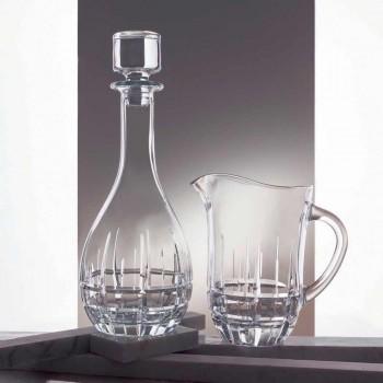 2 flasker med rund design vinstopper i dekoreret krystal - Fiucco