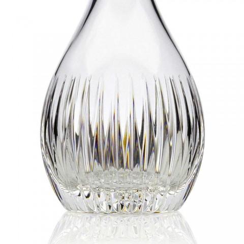 2 vinflasker med økologisk krystal håndmalet italiensk luksus - ønske