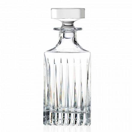 2 Crystal Whisky-flasker med manuel formaling fremstillet i Italien - Voglia